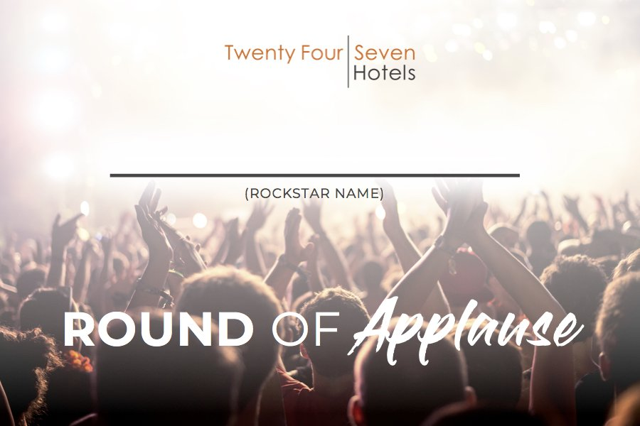 Who Gets a Round of Applause at Your Hotel?